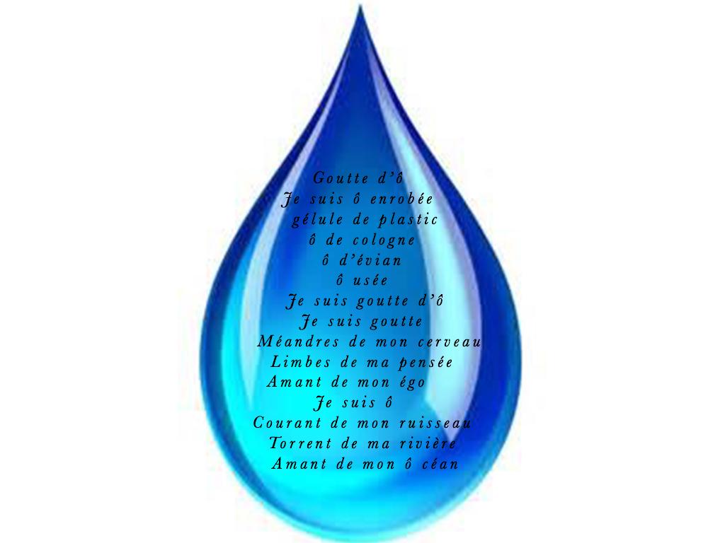 Goutte d'eau. #2psd